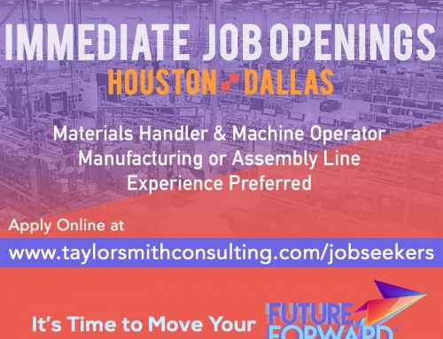 Immediate Openings for Materials Handler in Dallas